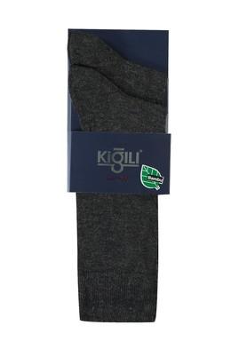 Erkek Giyim - KOYU ANTRASİT 39-41 Beden 2'li Düz Çorap