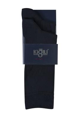 Erkek Giyim - ORTA LACİVERT 39-41 Beden 2'li Düz Çorap