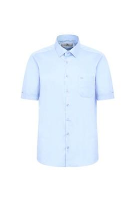 Erkek Giyim - UÇUK MAVİ 4X Beden Kısa Kol Regular Fit Spor Gömlek