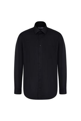 Erkek Giyim - SİYAH 3X Beden Uzun Kol Non Iron Klasik Gömlek