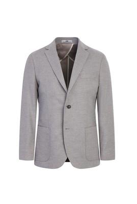 Erkek Giyim - AÇIK BEJ 52 Beden Regular Fit Kuşgözü Ceket