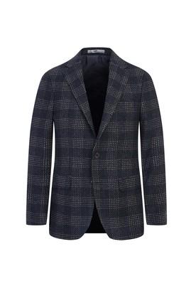 Erkek Giyim - ORTA GRİ 50 Beden Yünlü Klasik Desenli Ceket
