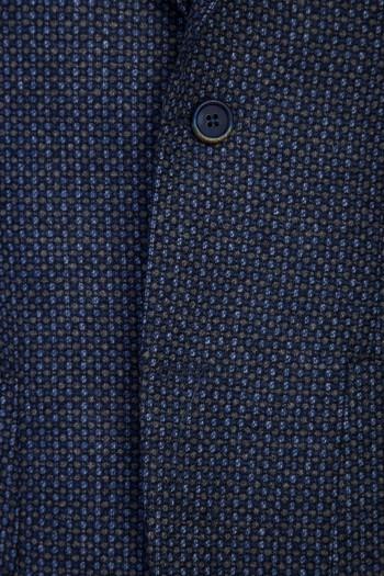 Erkek Giyim - Yünlü Klasik Desenli Ceket