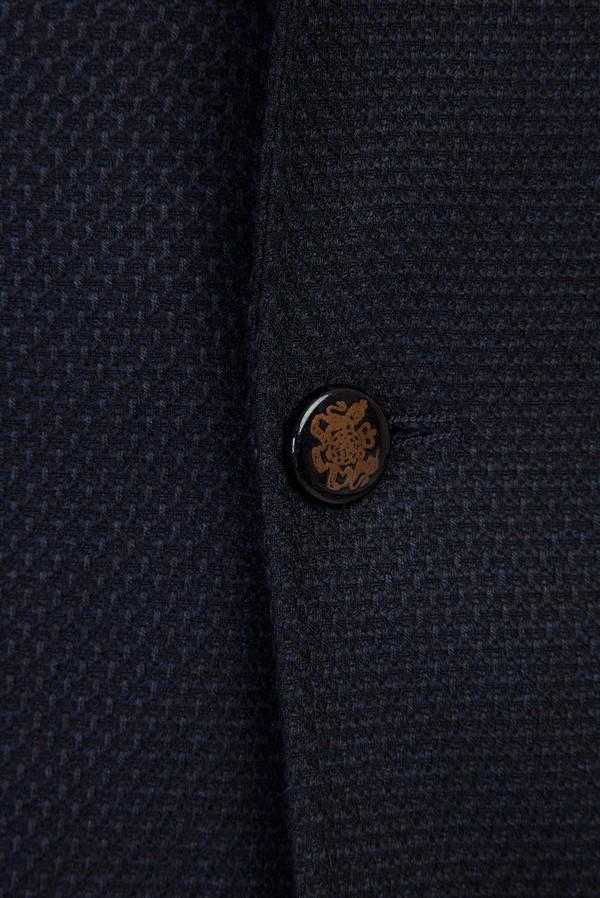 Slim Fit Kuşgözü Örme Ceket