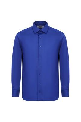 Erkek Giyim - SAKS MAVİ XL Beden Uzun Kol Non Iron Slim Fit Gömlek