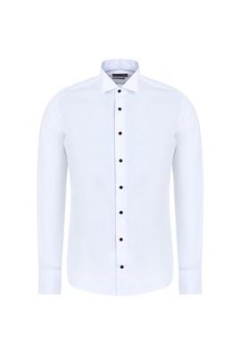 Erkek Giyim - BEYAZ L Beden Ata Yaka Slim Fit Gömlek