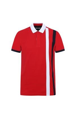 Erkek Giyim - BAYRAK KIRMIZI L Beden Polo Yaka Klasik Tişört