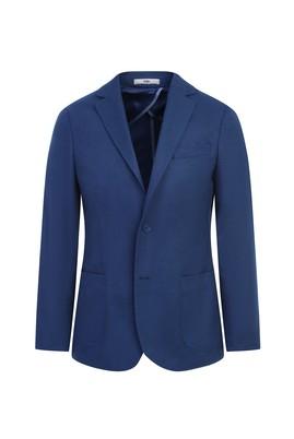 Erkek Giyim - KOYU MAVİ 56 Beden Klasik Kuşgözü Ceket