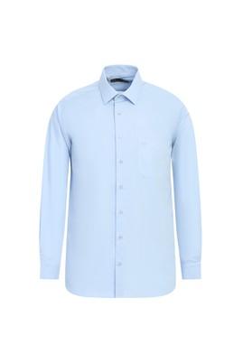 Erkek Giyim - UÇUK MAVİ L Beden Uzun Kol Coolmax Slim Fit Gömlek