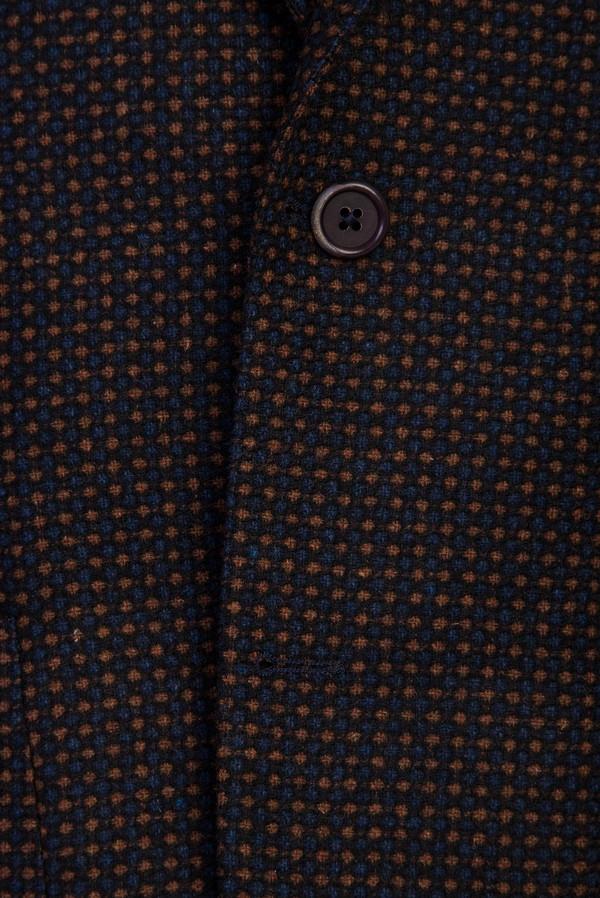 Regular Fit Yünlü Desenli Ceket