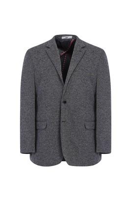 Erkek Giyim - SİYAH 58 Beden Regular Fit Örme Ceket