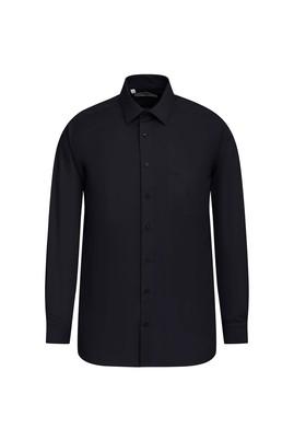 Erkek Giyim - SİYAH XL Beden Uzun Kol Coolmax Slim Fit Gömlek