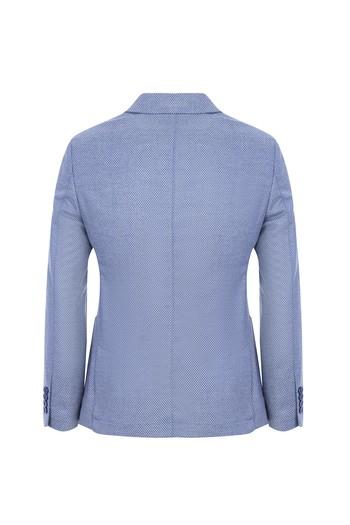 Erkek Giyim - Slim Fit Kuşgözü Ceket