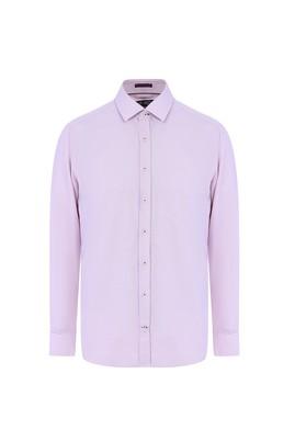 Erkek Giyim - SCARLET KIRMIZISI 3X Beden Uzun Kol Desenli Gömlek