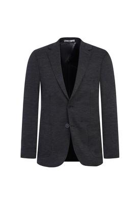 Erkek Giyim - ORTA ANTRASİT 52 Beden Klasik Örme Ceket