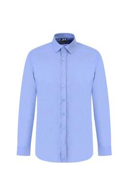 Erkek Giyim - MAVİ M Beden Uzun Kol Oxford Slim Fit Gömlek
