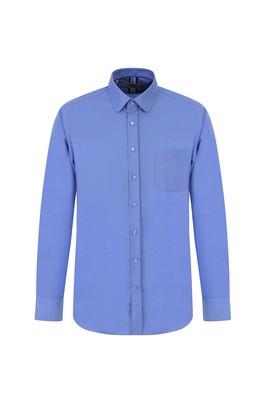 Erkek Giyim - KOYU MAVİ M Beden Uzun Kol Oxford Klasik Gömlek