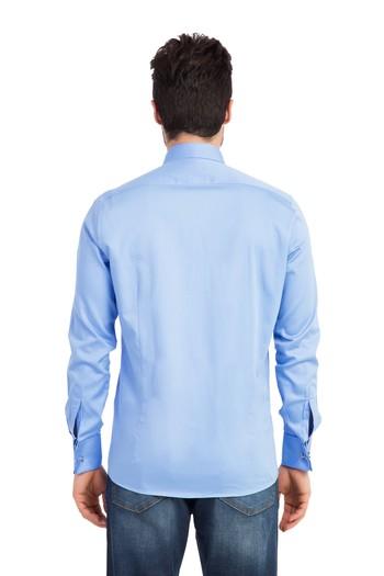 Erkek Giyim - Uzun Kol Slim Fit Saten Gömlek