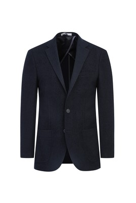 Erkek Giyim - SİYAH 48 Beden Regular Fit Kuşgözü Ceket
