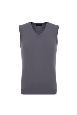 Erkek Giyim - ORTA GRİ L Beden Regular Fit Süveter