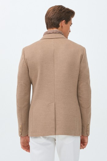 Erkek Giyim - Slim Fit Dik Yaka Ceket