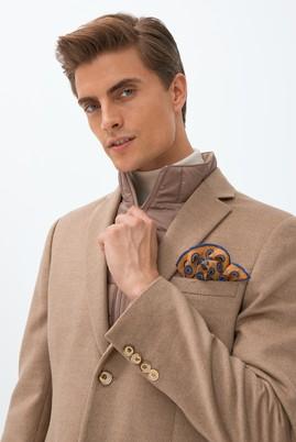 Erkek Giyim - ORTA BEJ 54 Beden Dik Yaka Ceket