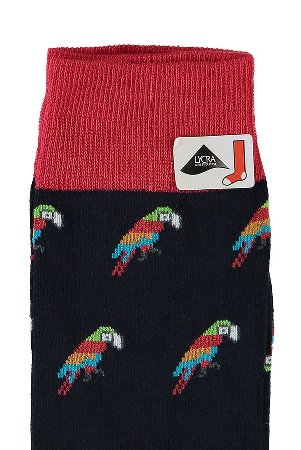 Tekli Desenli Çorap