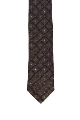 Erkek Giyim - KOYU VİZON  Beden Desenli Kravat