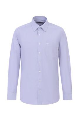 Erkek Giyim - LİLA XL Beden Uzun Kol Çizgili Klasik Gömlek