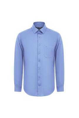 Erkek Giyim - AÇIK MAVİ 3X Beden Uzun Kol Non Iron Klasik Gömlek
