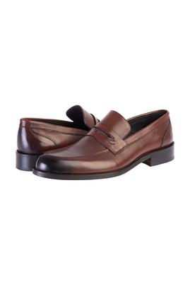 Erkek Giyim - KOYU KAHVE 43 Beden Casual Deri Ayakkabı