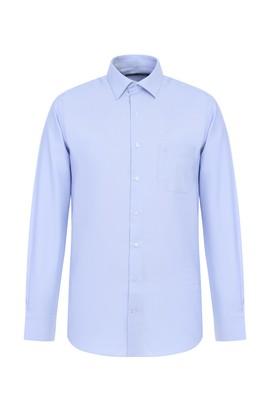 Erkek Giyim - GÖK MAVİSİ L Beden Uzun Kol Desenli Gömlek