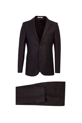 Erkek Giyim - ACI KAHVE 48 Beden Klasik Takım Elbise