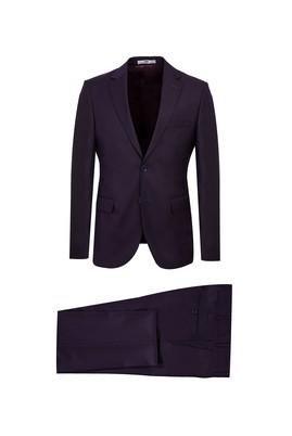 Erkek Giyim - PATLICAN MORU 46 Beden Slim Fit Takım Elbise
