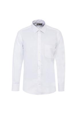 Erkek Giyim - BEYAZ 4X Beden Uzun Kol Desenli Klasik Gömlek