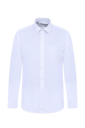 Erkek Giyim - Uzun Kol Desenli Klasik Gömlek