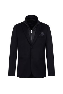 Erkek Giyim - SİYAH 56 Beden Regular Fit Dik Yaka Ceket