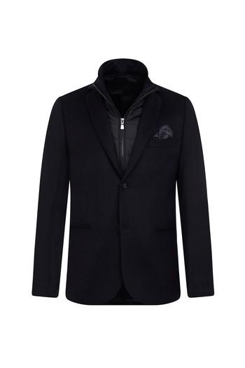 Erkek Giyim - Regular Fit Dik Yaka Ceket
