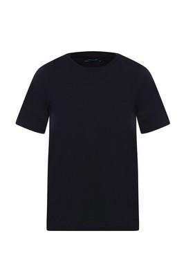 Erkek Giyim - KOYU LACİVERT L Beden Bisiklet Yaka Slim Fit Tişört