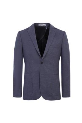 Erkek Giyim - ORTA GRİ 54 Beden Klasik Örme Ceket