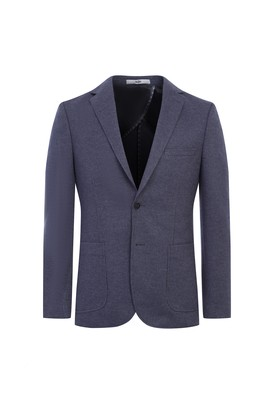 Erkek Giyim - ORTA GRİ 54 Beden Regular Fit Örme Ceket