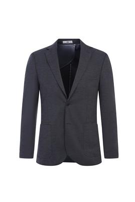 Erkek Giyim - ORTA FÜME 54 Beden Klasik Örme Ceket