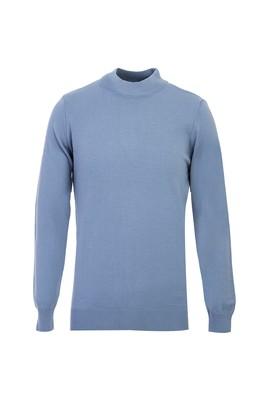 Erkek Giyim - Mavi XXL Beden Bato Yaka Regular Fit Triko Kazak