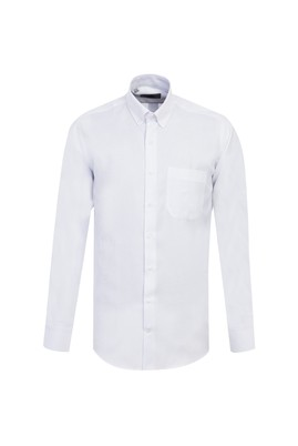 Erkek Giyim - BEYAZ L Beden Uzun Kol Oxford Gömlek