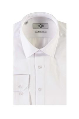 Erkek Giyim - BEYAZ L Beden Uzun Kol Slim Fit Gömlek
