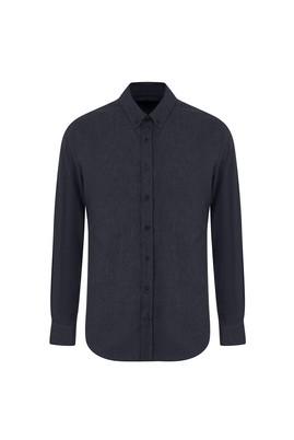 Erkek Giyim - AÇIK SİYAH XL Beden Uzun Kol Regular Fit Oduncu Gömlek