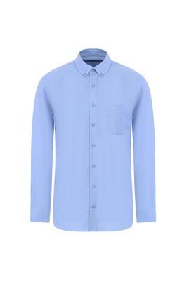 Erkek Giyim - AÇIK MAVİ 3X Beden Uzun Kol Regular Fit Oduncu Gömlek