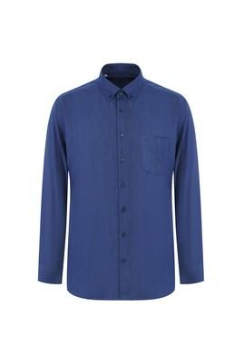 Erkek Giyim - İNDİGO L Beden Uzun Kol Regular Fit Oduncu Gömlek
