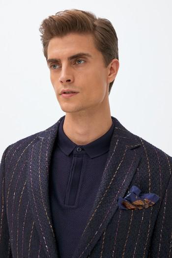 Erkek Giyim - Klasik Çizgili Desenli Ceket