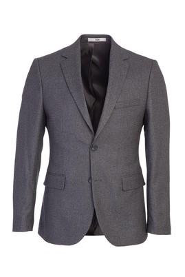 Erkek Giyim - ORTA FÜME 48 Beden Klasik Desenli Ceket